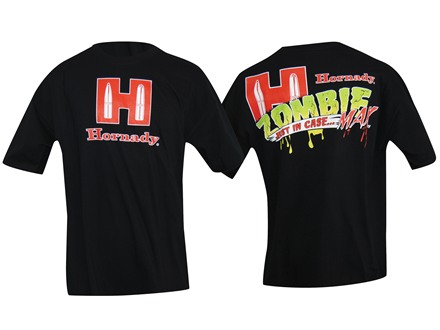 "Hornady Zombie T-Shirt Short Sleeve Cotton Black XL (48"")"