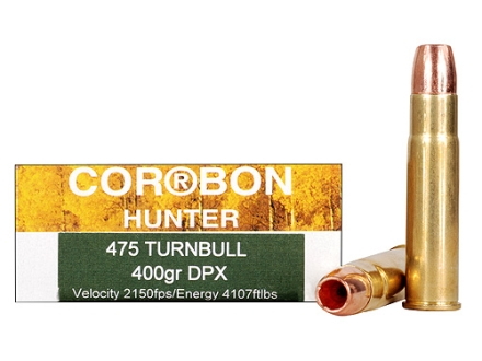 Cor-Bon DPX Hunter Ammunition 475 Turnbull 400 Grain Barnes Triple-Shock X Bullet Hollow Point Lead-Free Box of 20
