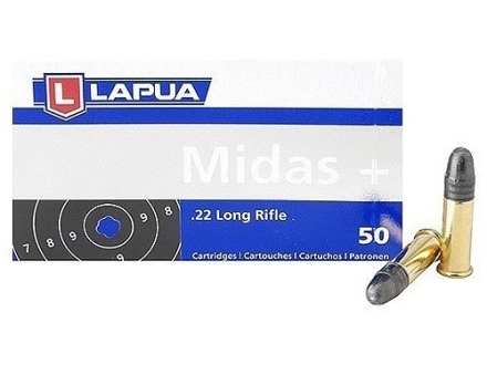 Lapua Midas+ Ammunition 22 Long Rifle 40 Grain Lead Round Nose