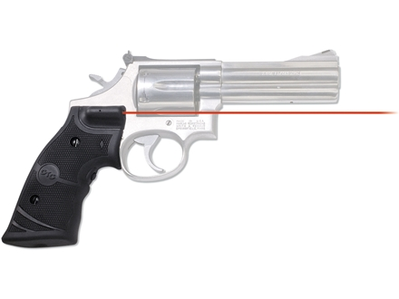 Crimson Trace Lasergrips Smith & Wesson K-, L- and N-Frame Revolver Rubber Black