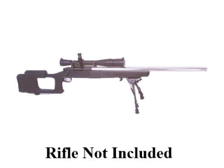 "Choate Ultimate Varmint Rifle Stock Remington 700 ADL Short Action 1.25"" Barrel Channel Left Hand Synthetic Black"