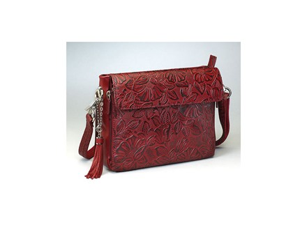 Gun Tote'n Mamas Tooled American Cowhide Handbag Leather