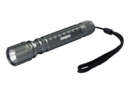 Energizer Tactical LED Flashlight with 2 AA Batteries Aluminum Black
