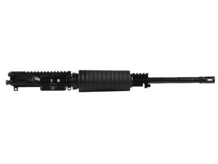 "CMMG AR-15 M4 LE A3 Flat-Top Upper Assembly 300 AAC Blackout (7.62x35mm) 1 in 7"" Twist 16"" Barrel Pistol Gas System WASP Melonite Finished Chrome Moly Matte with M4 Handguard, Flash Hider"