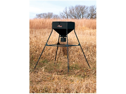Big Game 250 lb Standing Game Feeder Steel Black