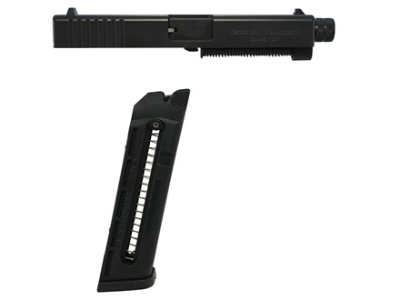 Tactical Solutions TSG-22 Rimfire Conversion Kit Glock 19, 23, 32, 38 22 Long Rifle with 15-Round Magazine, Threaded Muzzle Black