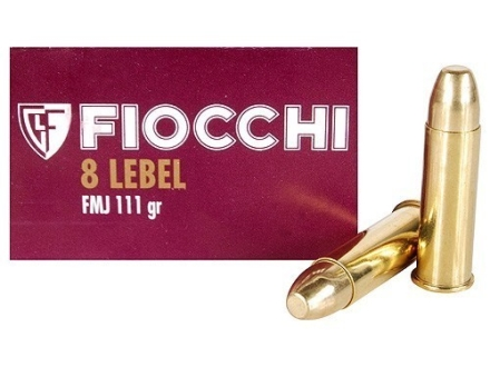 Fiocchi Ammunition 8mm Lebel Revolver 111 Grain Full Metal Jacket Box of 50