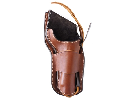 "Ross Leather Classic Suede Lined Belt Holster Right Hand Crossdraw Single Action 5.5"" Barrel Leather Tan"