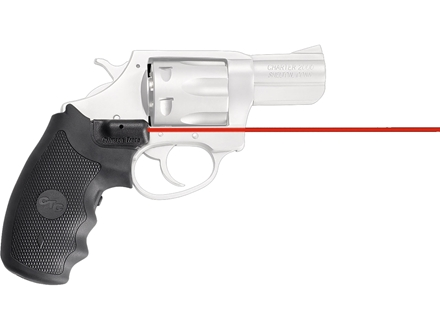 Crimson Trace Lasergrips Charter Arms Large and Small Frame Revolvers except Derringer Overmolded Rubber Black