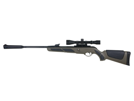 Gamo Bone Collector Bull Whisper IGT Air Rifle 177 Caliber Pellet Green Synthetic Stock Fluted Barrel with Gamo Airgun Scope 4x32mm