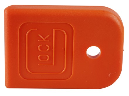 Glock Magazine Base Pad Glock 17, 19, 22, 23, 24, 25, 26, 27, 28, 31, 32, 33, 34, 35, 37 Polymer Orange