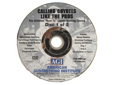 "American Gunsmithing Institute (AGI) Video ""Coyote Hunting with Darrell Holland"" 2 Volume Set DVD"