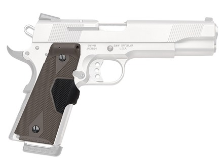Crimson Trace Lasergrips 1911 Government, Commander Front Activation Polymer Olive Drab with S&W Logo