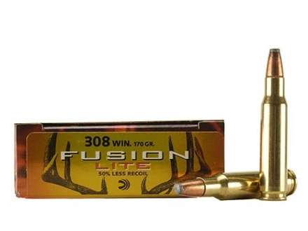 Federal Fusion Lite Ammunition 308 Winchester 170 Grain Spitzer Boat Tail Box of 20