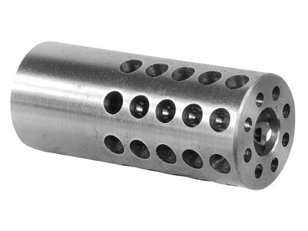 "Vais Muzzle Brake Micro 284 Caliber, 7mm 1/2""-32 Thread .750"" Outside Diameter x 1.750"" Length Chrome Moly in the White"