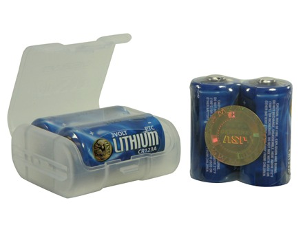 ASP Battery CR123A PTC Lithium with Plastic Link Case Pack of 4