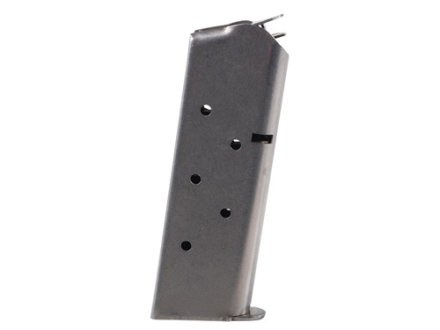 Metalform Magazine 1911 Officer 45 ACP 7-Round Stainless Steel Matte Flat Follower Welded Base