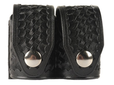 HKS Double Speedloader Pouch Hytrel Basketweave Black