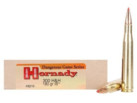 Hornady Custom Ammunition 300 H&H Magnum 180 Grain InterBond Box of 20