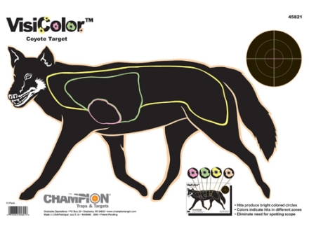 "Champion VisiColor Coyote Target 16"" x 11"" Paper Package of 10"