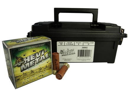 "Hevi-Shot Hevi-Metal Waterfowl Ammunition 12 Gauge 3"" 1-1/4 oz #2 Hevi-Metal Non-Toxic Shot"