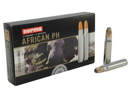 Norma African PH Ammunition 500 Jeffery 570 Grain Woodleigh Weldcore Soft Point Box of 10