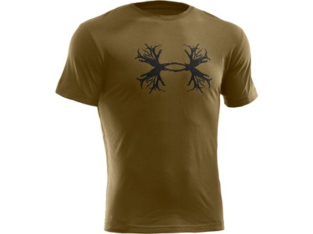 Under Armour Men's UA Antler Logo Short Sleeve T-Shirt Cotton Blend Drab Large 42-44