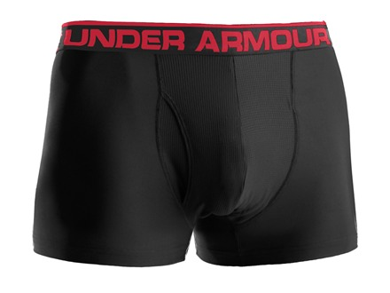 "Under Armour Men's 3"" Original BoxerJock Underwear Synthetic Blend Black XL 38-40"