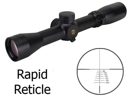 Pride Fowler Rapid Reticle Rimfire Rifle Scope 3-9x 32mm .22 Long Rifle First Focal Rapid Reticle Matte