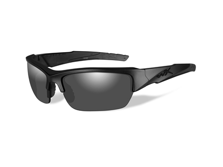 Wiley X Black Ops WX Valor Polarized Sunglasses Smoke Gray Lens
