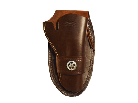 "Hunter 1082 Western Slim Jim Holster with Concho Right Hand Colt Single Action Army, Ruger Blackhawk, Vaquero 4-.75"" to 5.5"" Barrel Leather Antique Brown"