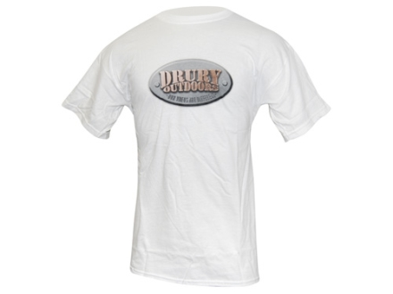 Drury Outdoors Men's Logo T-Shirt Short Sleeve Cotton White XL