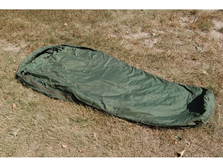 "Military Surplus MSS Patrol 30 Degree Mummy Sleeping Bag 37"" x 92"" Nylon Green"