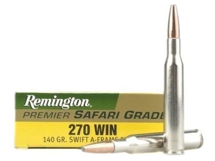 Remington Premier Ammunition 270 Winchester 140 Grain Swift A-Frame Box of 20