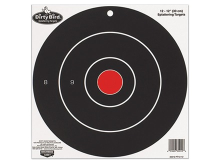 "Birchwood Casey Dirty Bird 8"" Bullseye Targets Package of 25"