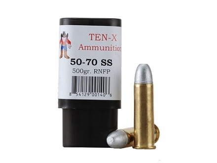 Ten-X Cowboy Ammunition 50-70 Government 500 Grain Round Nose Flat Point Box of 20
