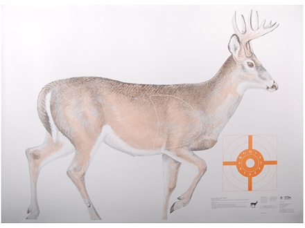 NRA Official Lifesize Game Target White Tail Deer Paper Package of 12