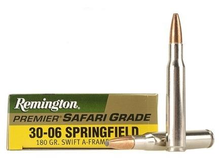 Remington Premier Ammunition 30-06 Springfield 180 Grain Swift A-Frame Box of 20