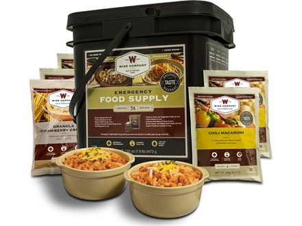 Wise Food Grab N' Go Freeze Dried Meals 56 Serving Bucket