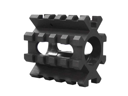 "Yankee Hill Machine Gas Block 4 Picatinny Rail AR-15, LR-308 Standard Barrel .750"" Inside Diameter Steel Matte"