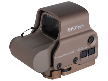 EOTech EXPS3-0 Holographic Weapon Sight 65 MOA Circle with 1 MOA Dot Reticle Tan CR123 Battery