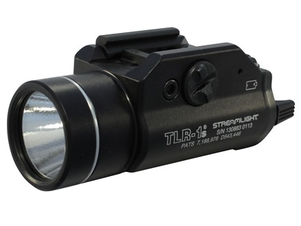 Streamlight TLR-1S Weaponlight LED with 2 CR123A Batteries fits Picatinny and Glock Rails Aluminum Matte