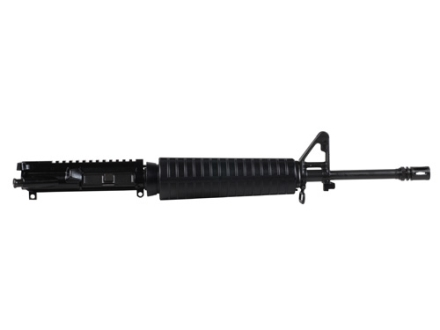 "Del-Ton AR-15 A3 Flat-Top Upper Assembly 5.56x45mm NATO 1 in 9"" Twist 16"" Mid Length Lightweight Contour Barrel Chrome Moly Matte with CAR-Style Handguard, Flash Hider"