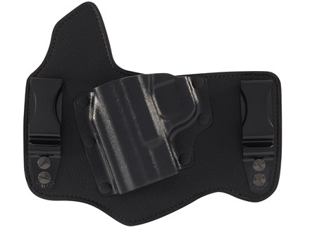 Galco King Tuk Tuckable Inside the Waistband Holster Left Hand Smith & Wesson M&P Fullsize, Compact Leather and Kydex Black