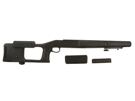 "Choate Ultimate Varmint Rifle Stock Savage 10 Series Short Action Staggered Feed with 4.275"" Screw Spacing Blind Magazine 1.25"" Barrel Channel Left Hand Synthetic Black"