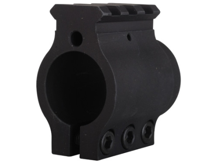 "Sadlak Clamp On Gas Block Single Picatinny Rail Low AR-15, LR-308 .936"" Inside Diameter Aluminum Matte"