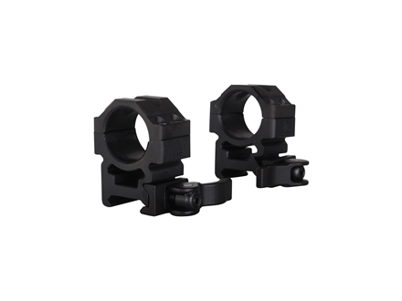 "Leapers UTG 1"" Max Strength Tactical 4-Hole Quick Detachable Picatinny-Style Rings Matte Medium"