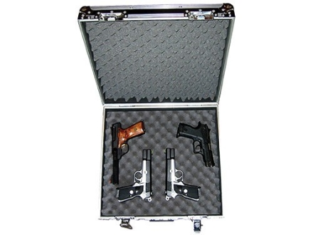 "Do-All Bandito Vaquero 4 Pistol Gun Case 18"" x 13"" x 7-1/2"" Aluminum Black"