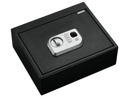 Stack-On Personal Drawer Safe with Biometric Lock Black