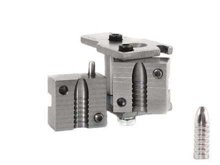 """Hoch Custom 1-Cavity Nose Pour Bullet Mold 32-40 (322 Diameter) 200 Grain Semi-Spitzer Schuetzen 1.070"""" Bullet Length"""
